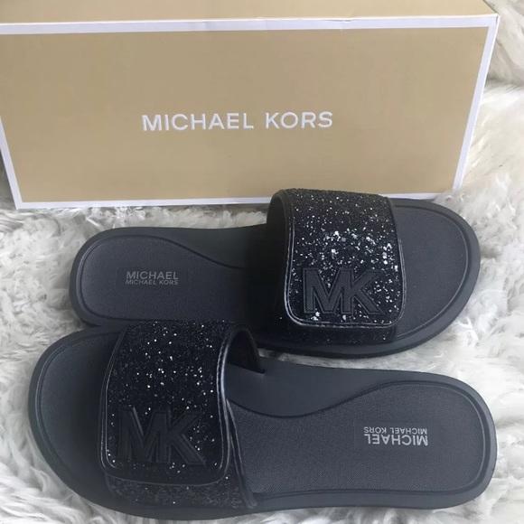 Michael Kors Glitter Slide | Poshmark